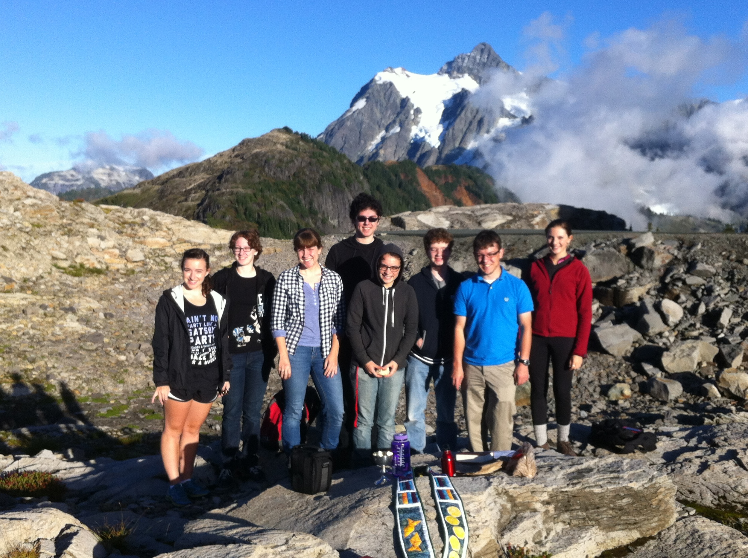 Here we are at Artist Point, northeast of Mount Baker, where we celebrated the Eucharist on a Saturday evening just before sunset.