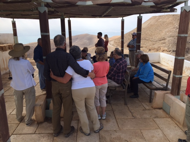 Then we visited the ruins of Herod's palace where John was beheaded. Here, Father Kamal relates what John experienced to how we get to expectations of God, when he often has other plans. (The McAllisters celebrated their 50th anniversary this year...and here they are, still in love.)