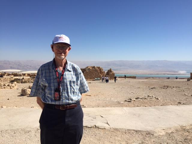 A devout pilgrim at Masada
