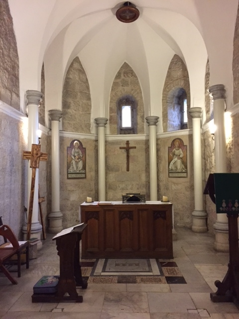 Chapel at St. George's Cathedral in the Diocese of Jerusalem where we attended a wonderful service on Sunday morning