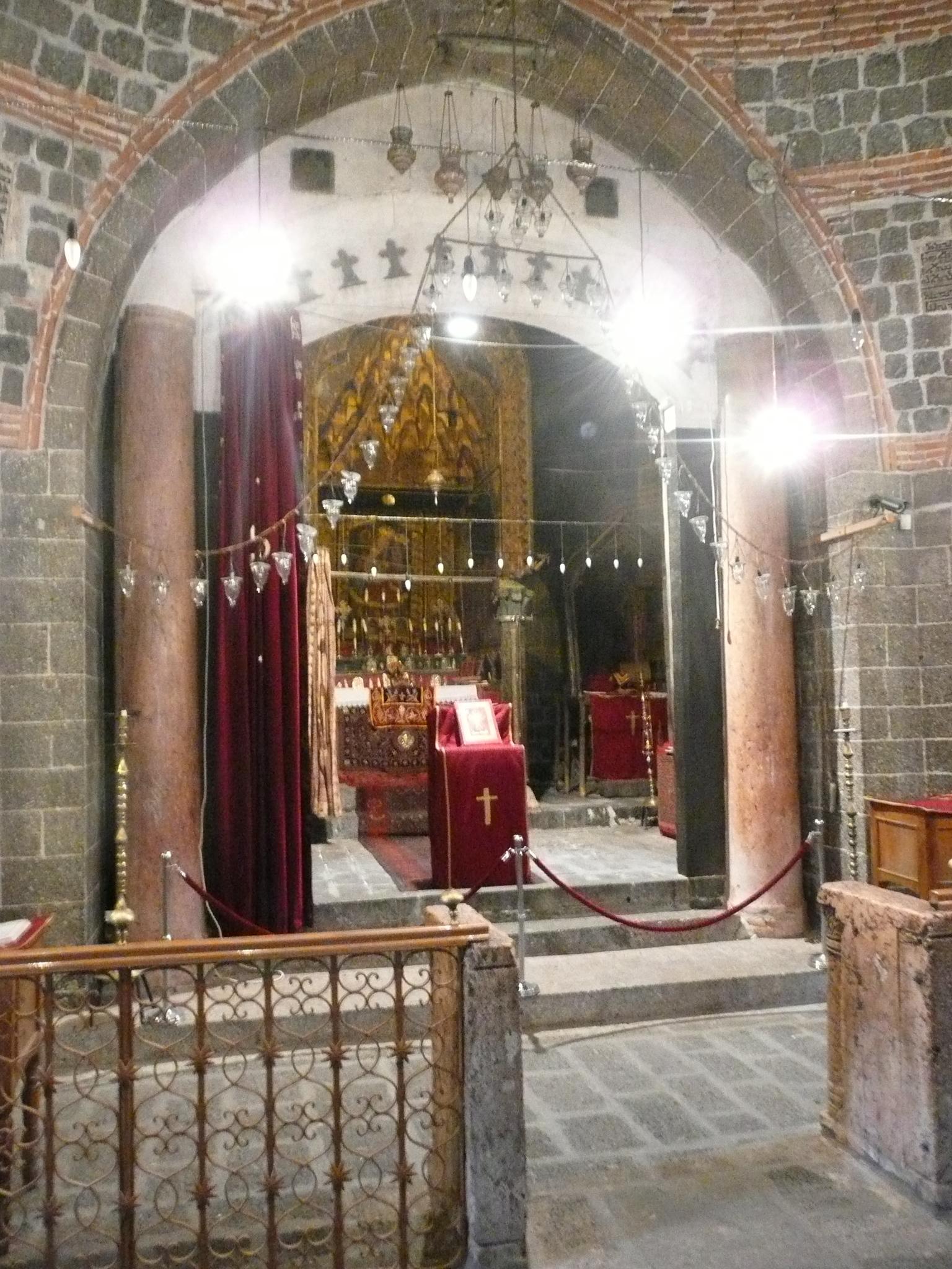 The altar at the Syrian Orthodox Church of St. Mary, Dyarbakir