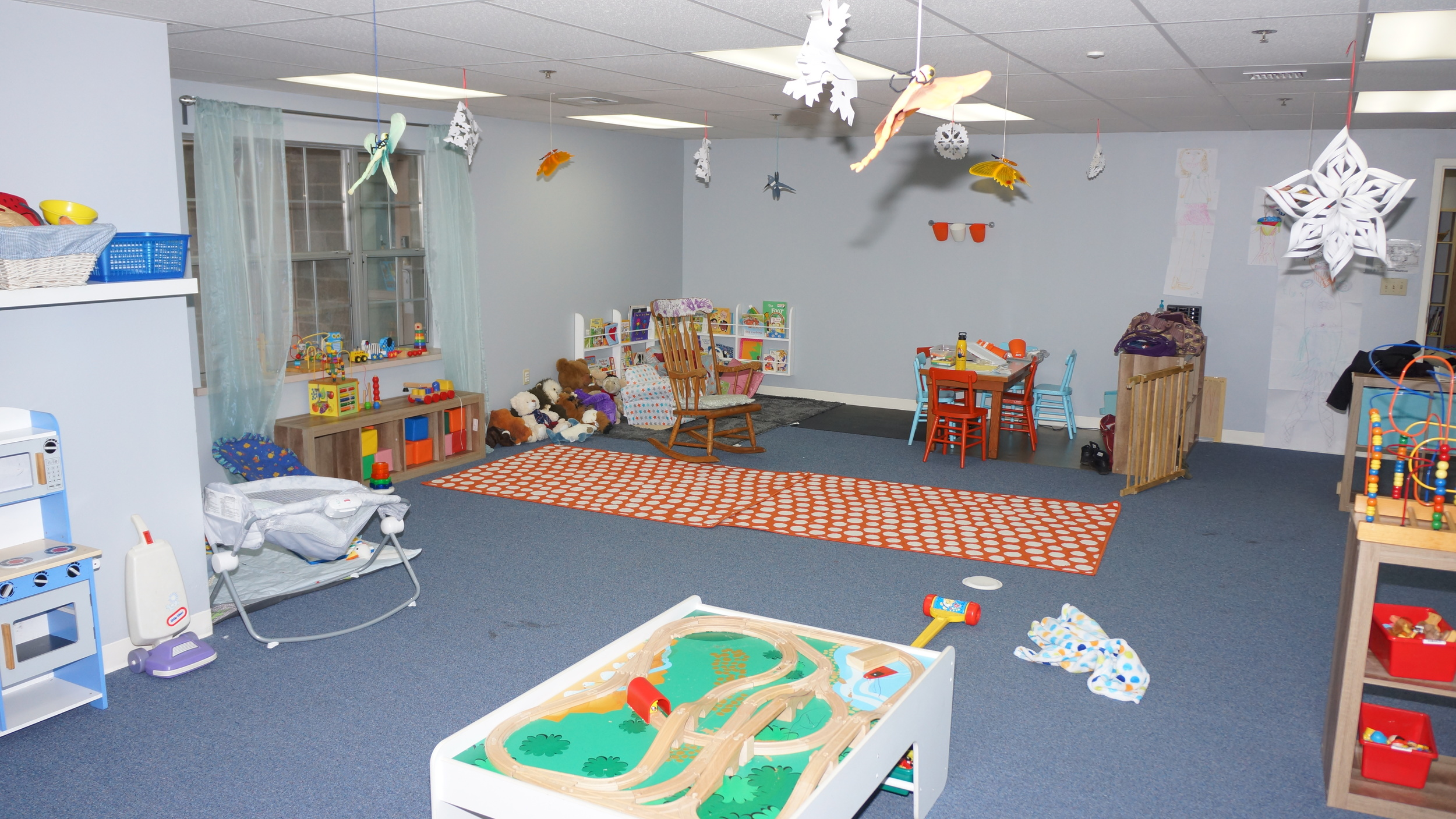 The play area of St. Paul's nursery in Room B21