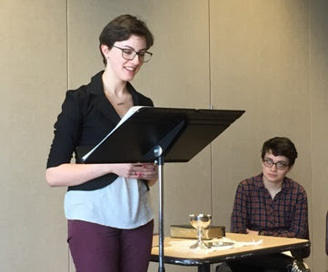 Jessalyn Rogers  preached the homily at Holy Eucharist during the  Collegiate Day of Prayer at WWU