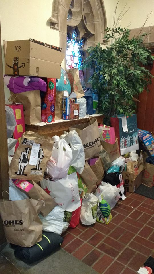 Gifts donated by St. Paulites for Christmas 2016. Way to go!