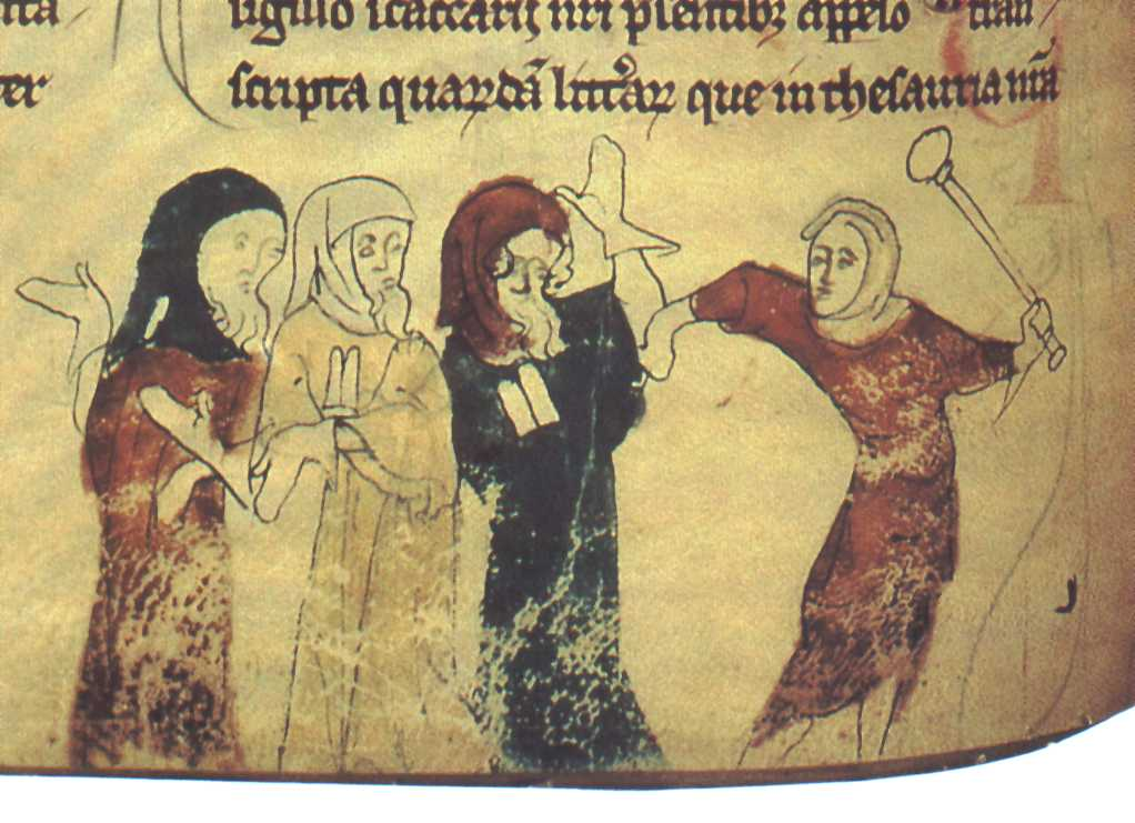 One of the earliest images of Jews being persecuted in Britain from the 13th century*