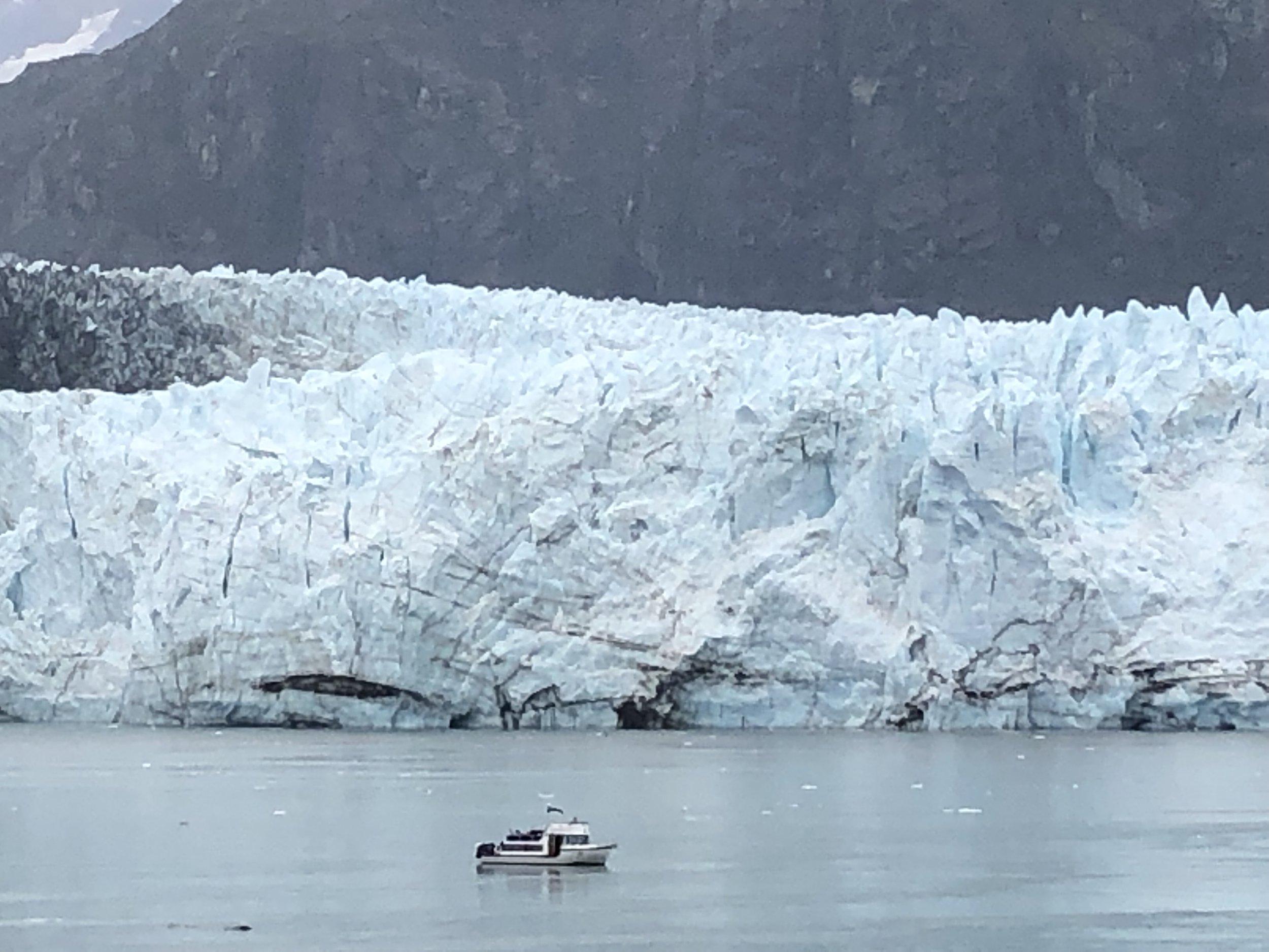 Waiting in front of Margerie Glacier in Glacier Bay, Alaska