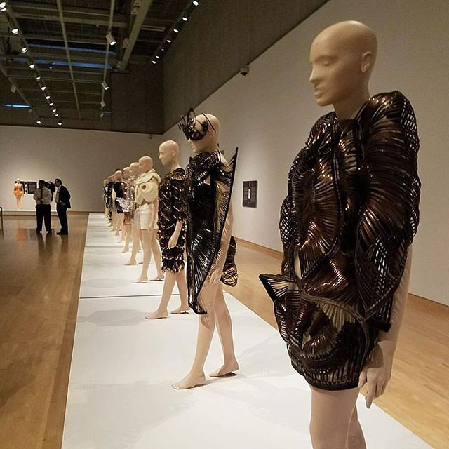 The #irisvanherpen exhibit at Phoenix Art Museum is a stunning look at the future of fashion! Officially open to the public this weekend! Do not miss this amazing exhibition! Photo credit @hwangloose925
