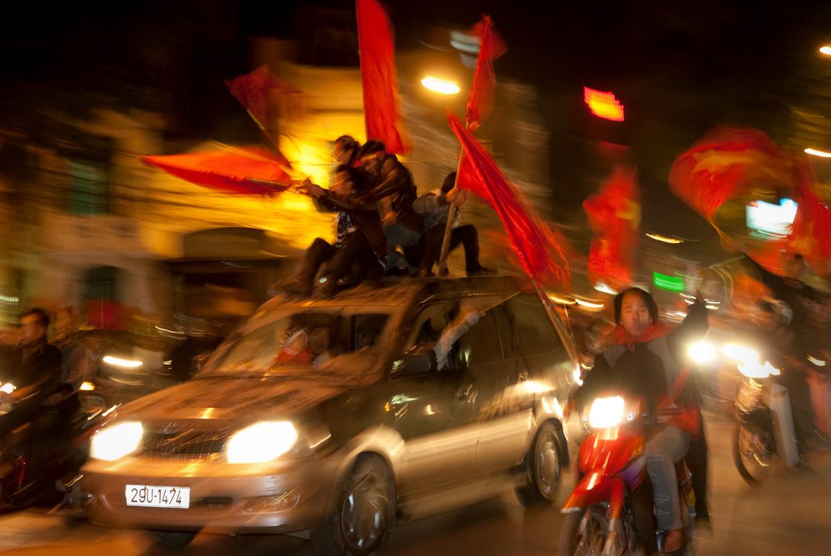 Suzuki Cup victory celebrations, Hanoi, Vietnam