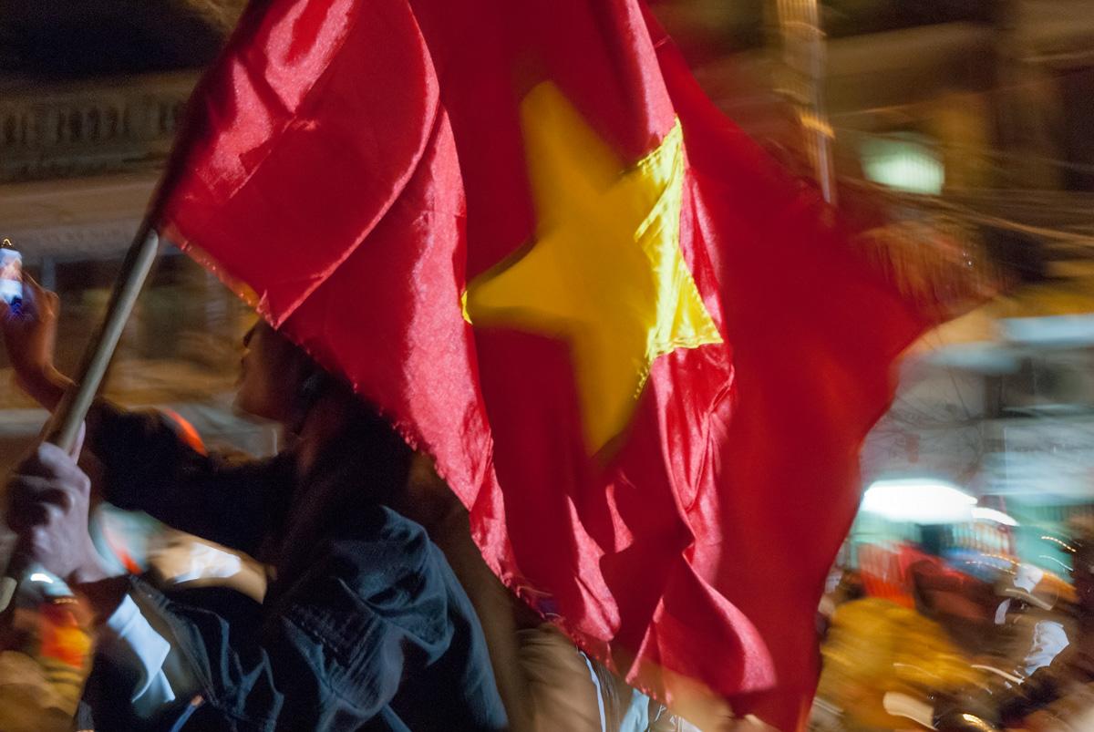 Suzuki Cup (Southeast Asia football championship) victory celebrations, Hanoi, Vietnam