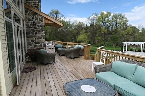The back deck overlooking the wedding garden