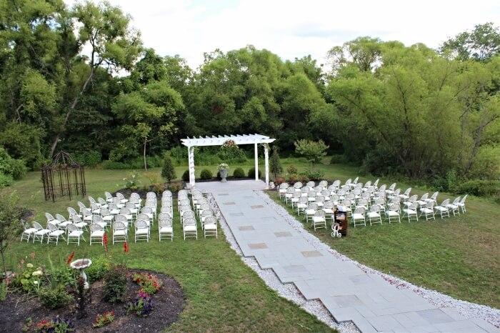 The wedding garden pergola