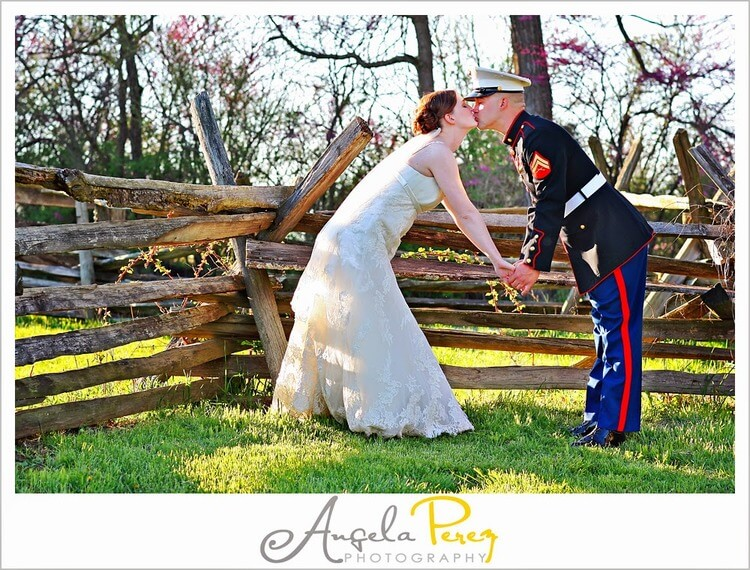 Copy of Kissing in front of Gettysburg style fencing