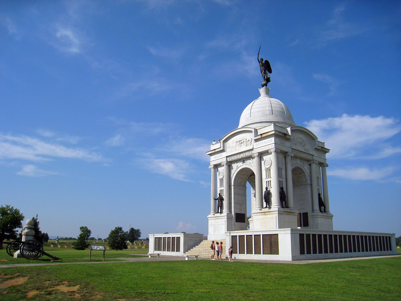 The Pennsylvania State Memorial on the Gettysburg Battlefield