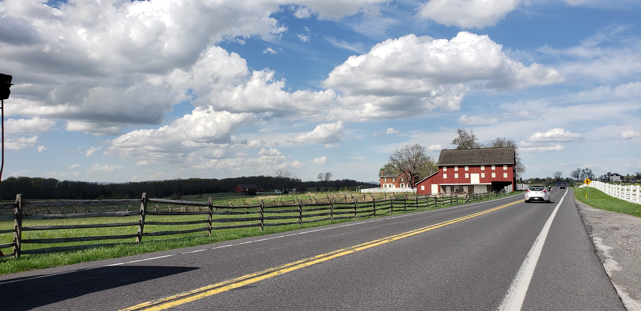 The farms and barns along the old Emmitsburg Road are some of the sites you will visit on your carriage ride.