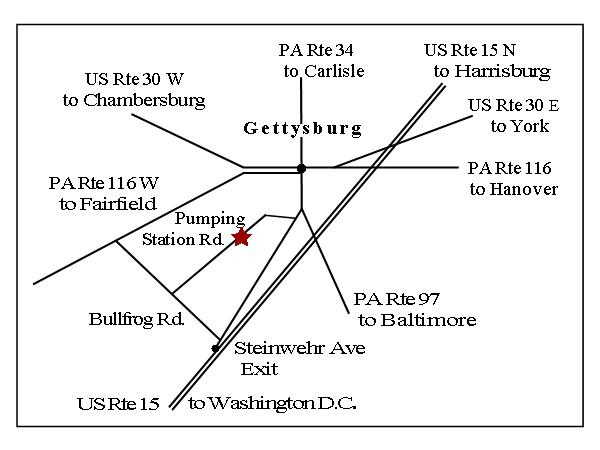 Gettysburg Reenactment Map 2019 on Pumping Station Road