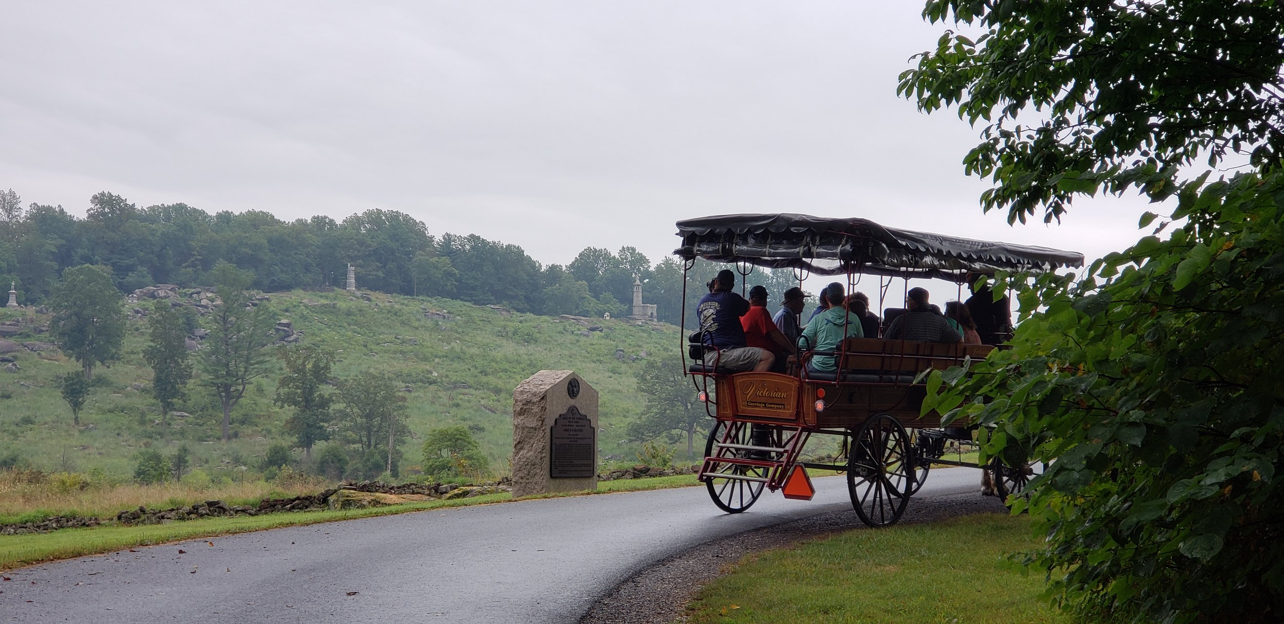 View Little Round Top from a horse-drawn carriage