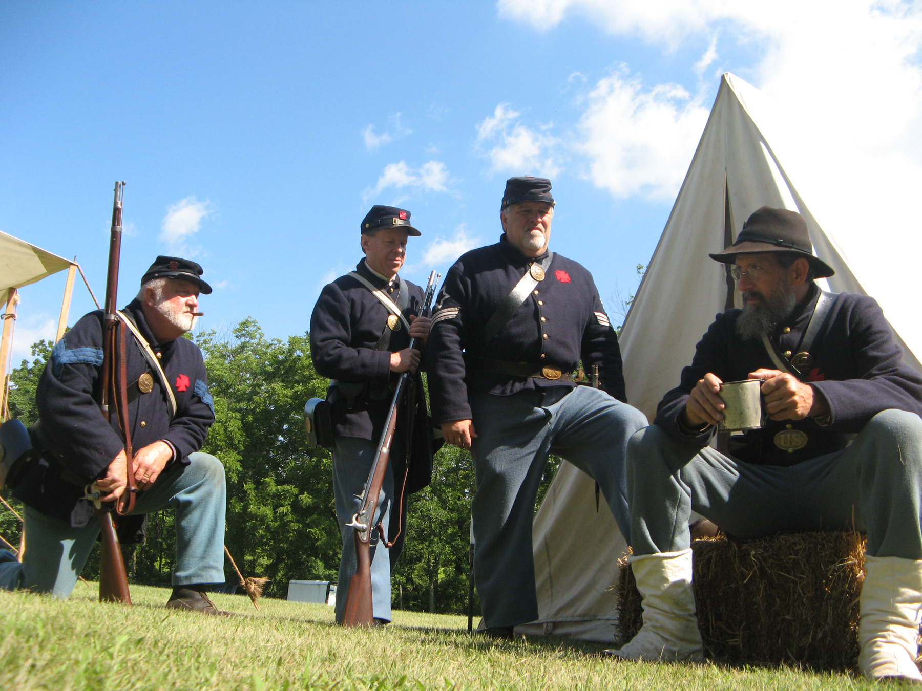 Living history on the battlefield.