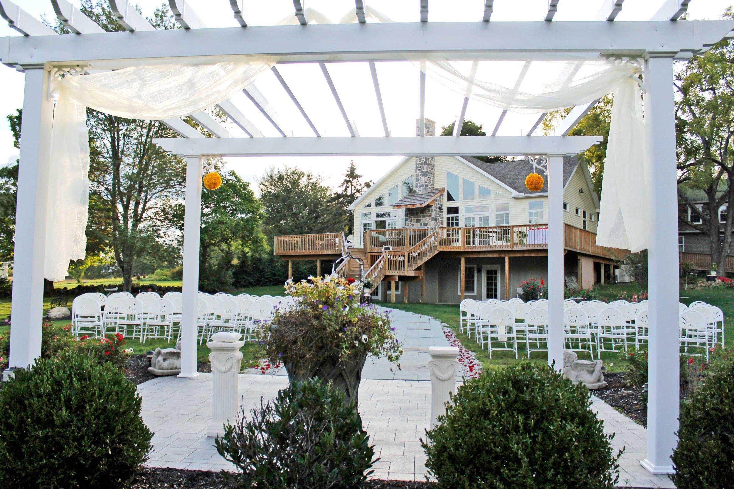 Wedding Garden with view of Solarium Deck