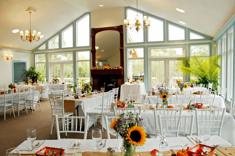 Solarium staged for reception