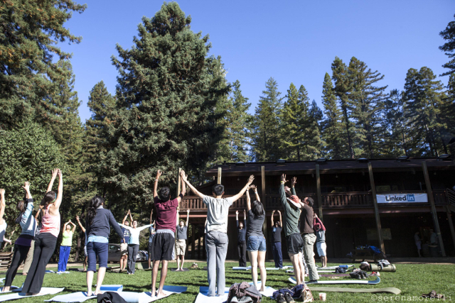 Yoga in the Meadow at Camp Navarro