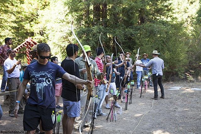 Archery in the redwoods at Camp Navarro