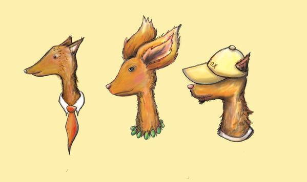 Family of 'Fancy Fox' Illustrations