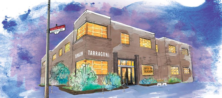 Tarragon Theatre Building - Digital Collage Illustration