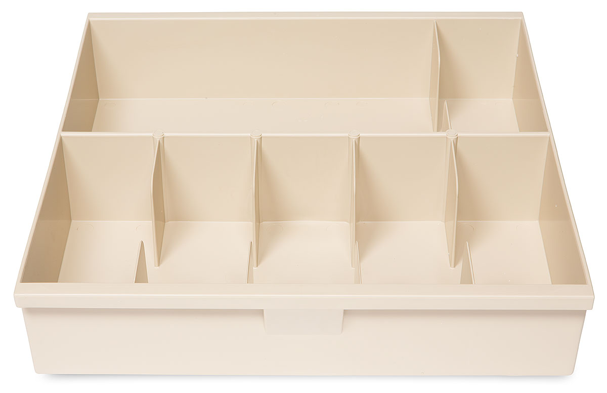 Trays and accessories come in tan or black. Custom colors are available on orders of 100+. (shown in tan)