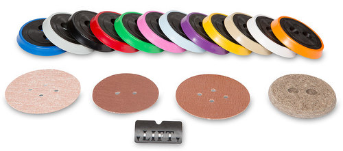Colored end caps and various disc sizes are available to meet your needs.