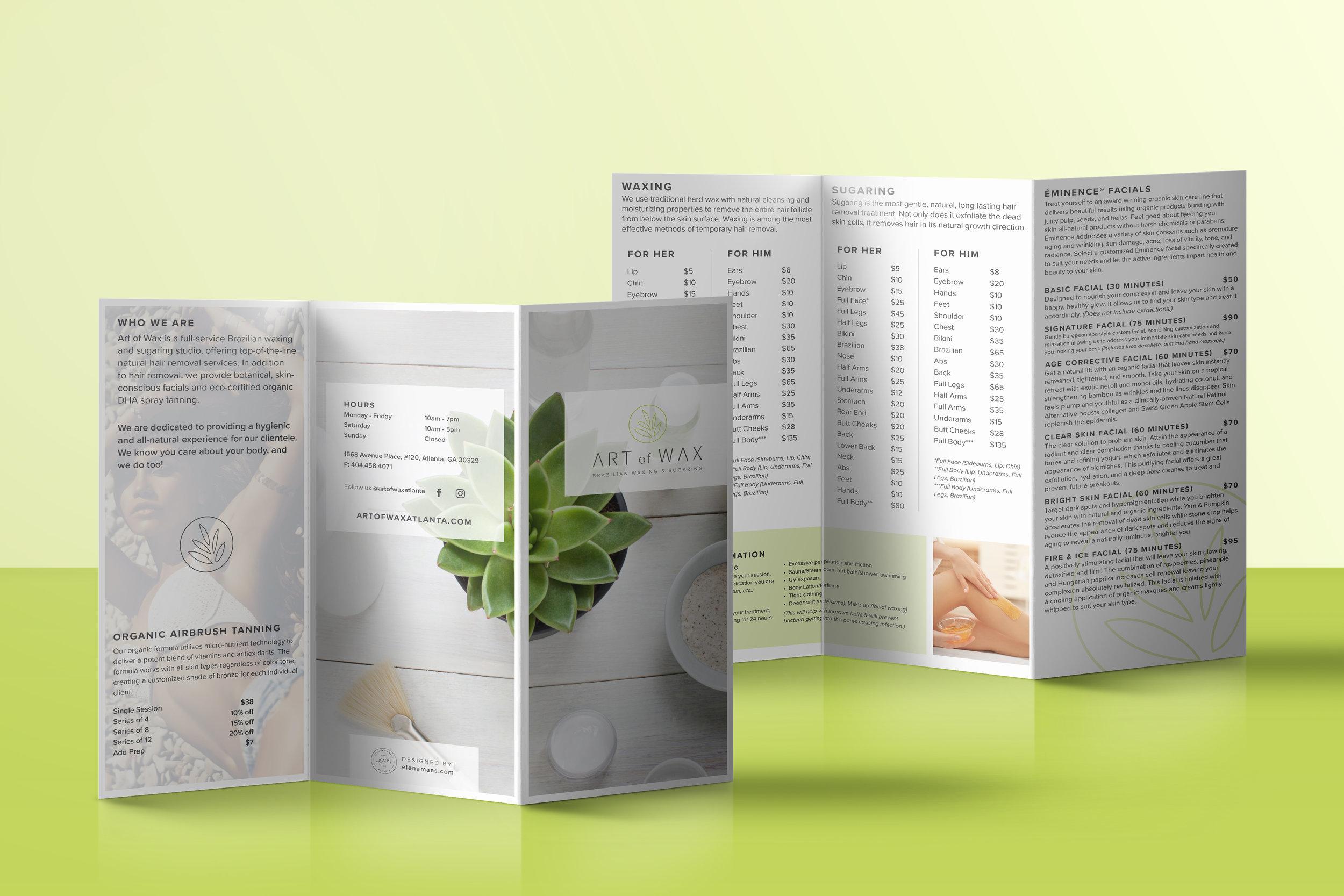 Tri-fold brochure design   August 2018