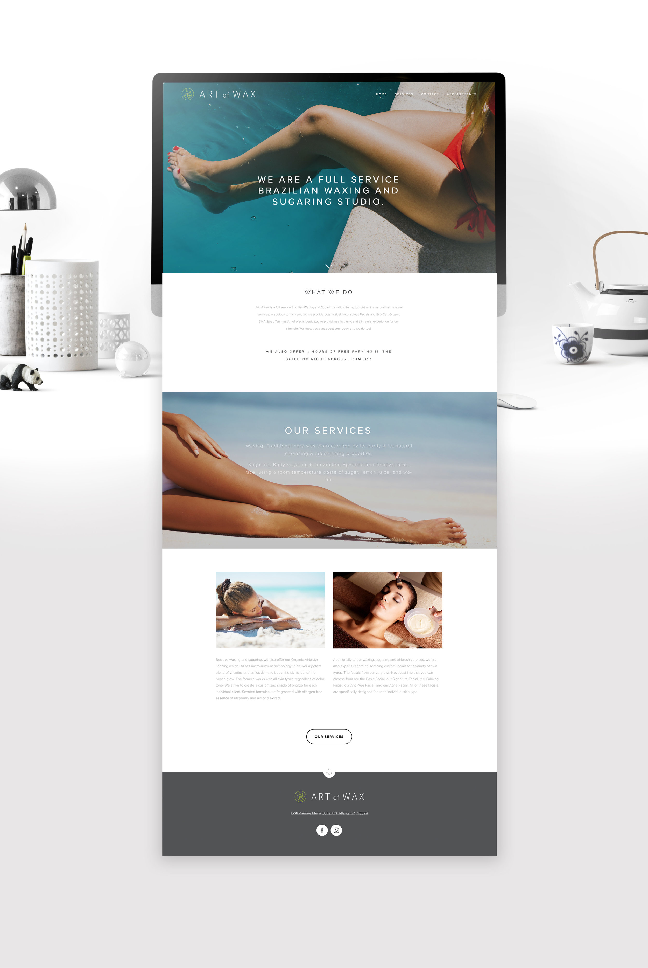 Website design    ArtOfWaxAtlanta.com