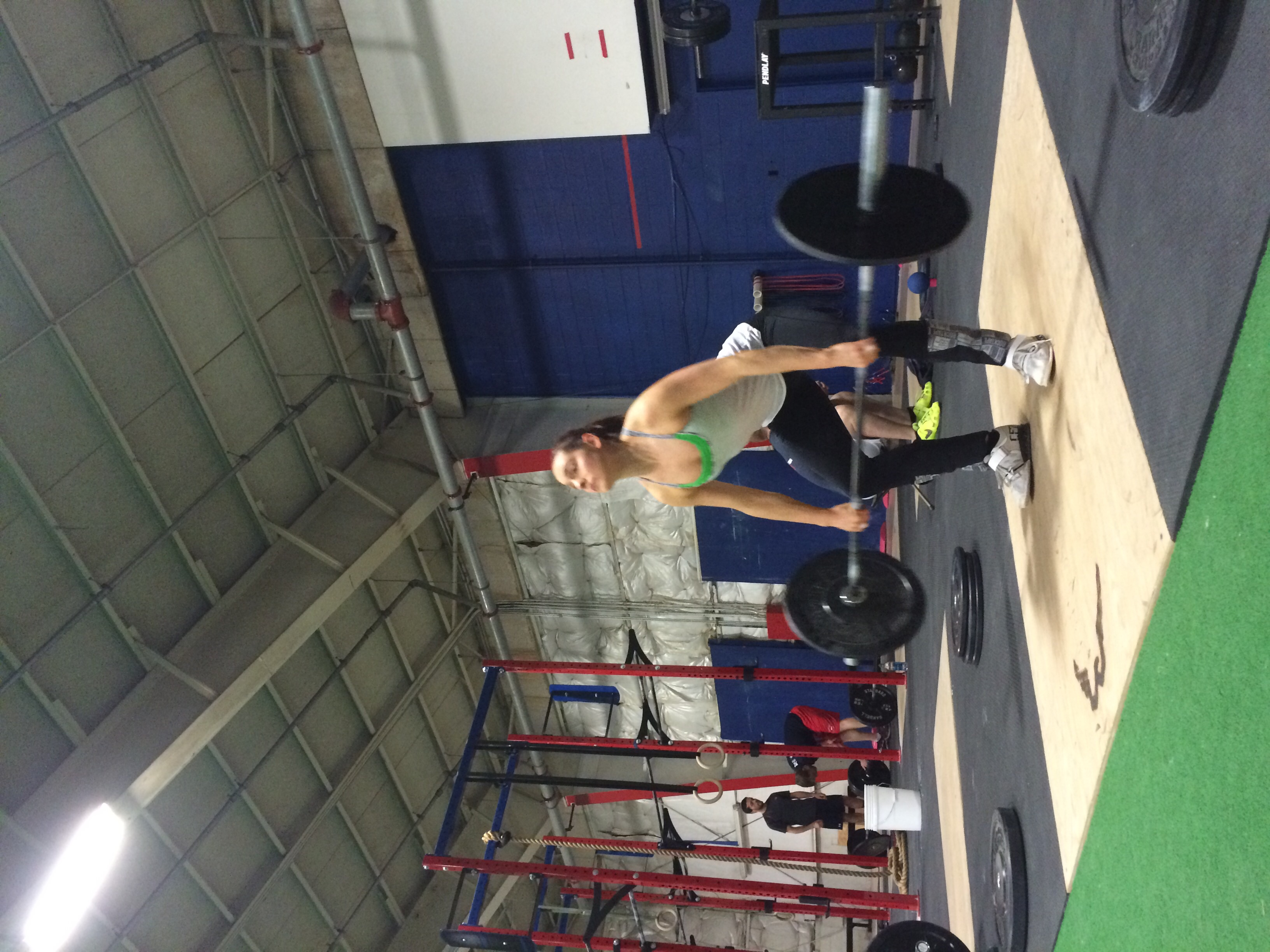 Kathleen from Primal Treats & Eats stopped by for delivery and got her WOD on.