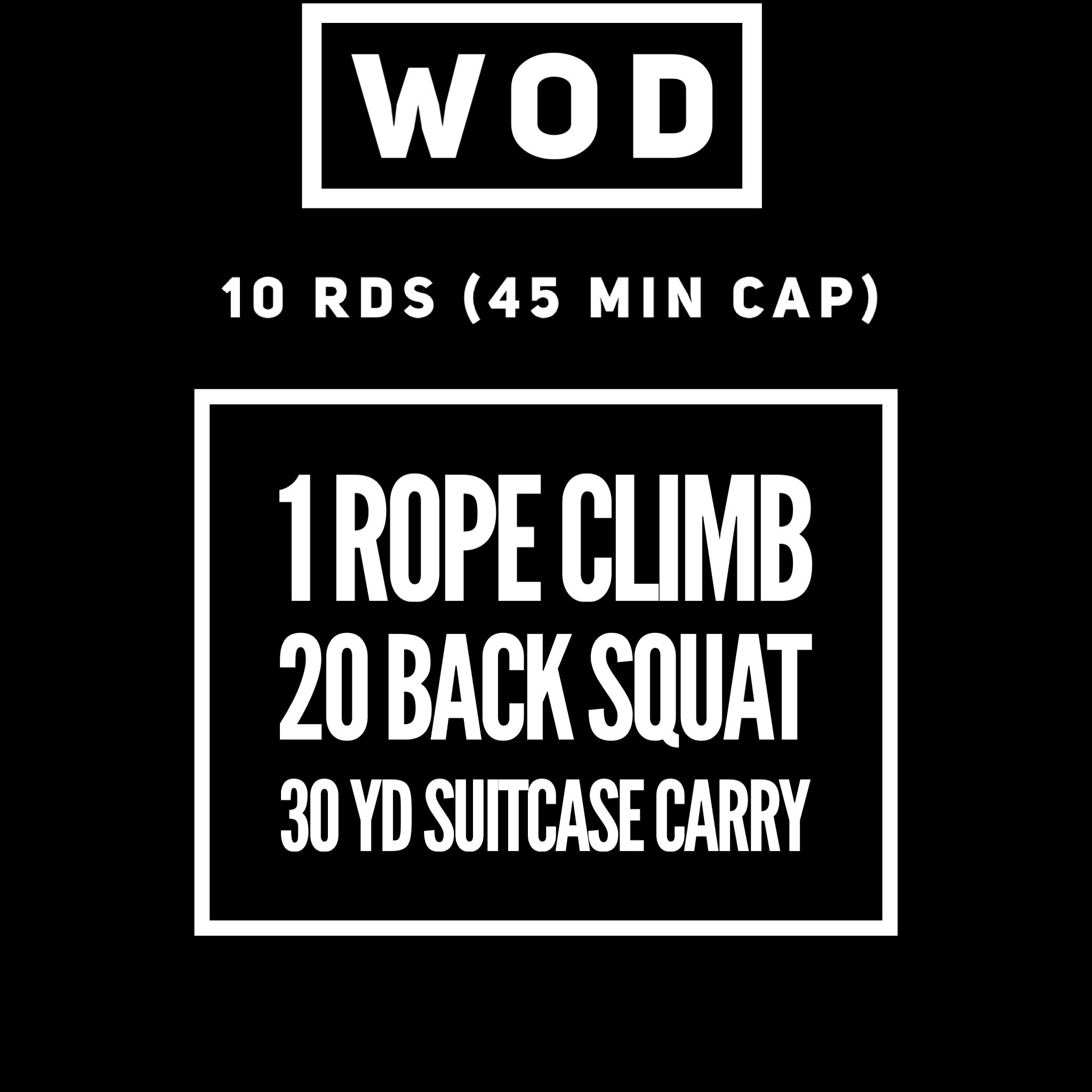 Back Squat @ 95/65  Carry KB @ 70/53