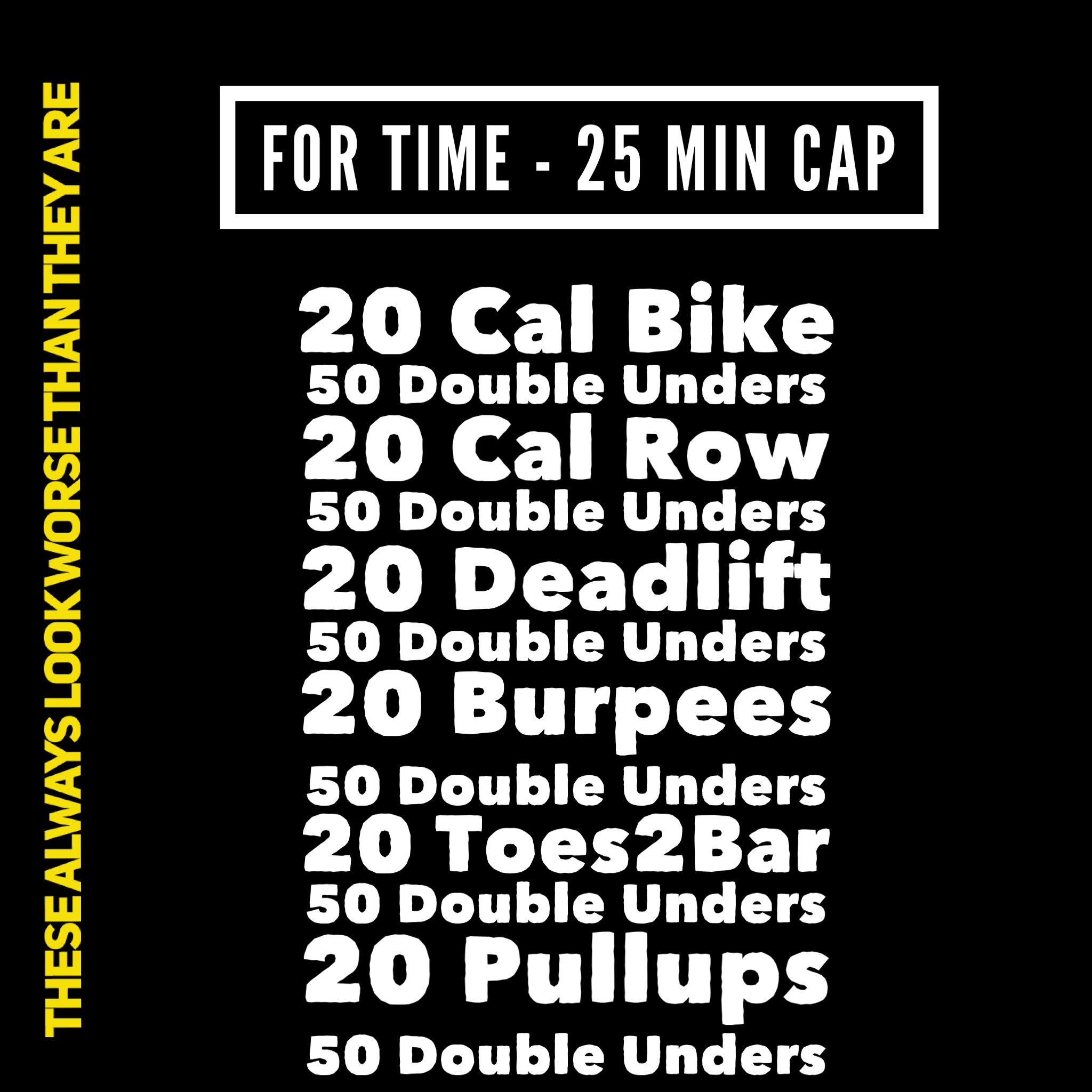 DU= 50 Singles with 10 Double Attempts  Deadlift @ 225/155  Level 3 dubs Bar Muscle Ups for the Pullups. (If you have them, pick a number with your coach and do that number instead of the Pullups)