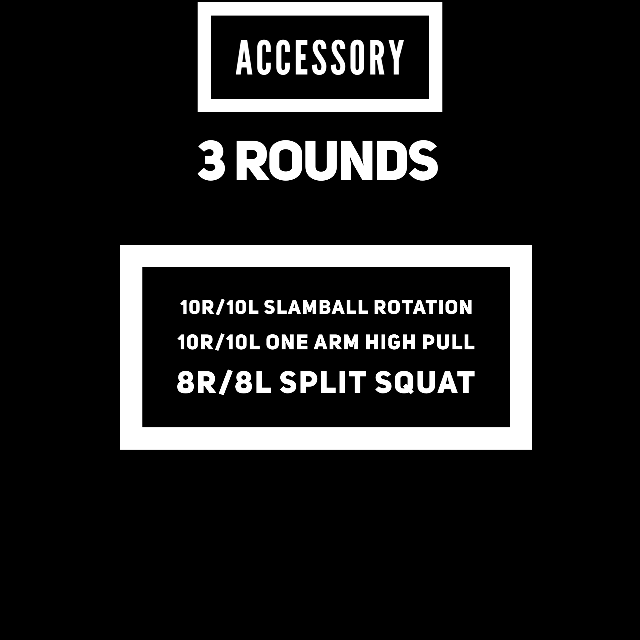 slamball @ 40/20... 40 goes against the cinder block walls.  Break out the light kettlebells or dumbbells for the high pulls.   Increase the weight on the split squat by 5-10.