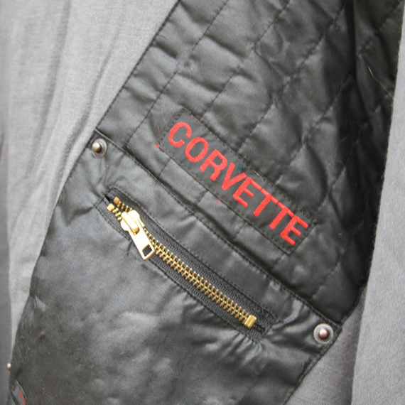 Up Close and Personal with our  Corvette Sweat  design details.