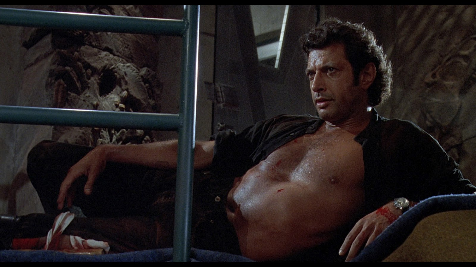 Jeff Goldblum in Jurassic Park, okay this isn't really a kid memory but still awesome. #mcm