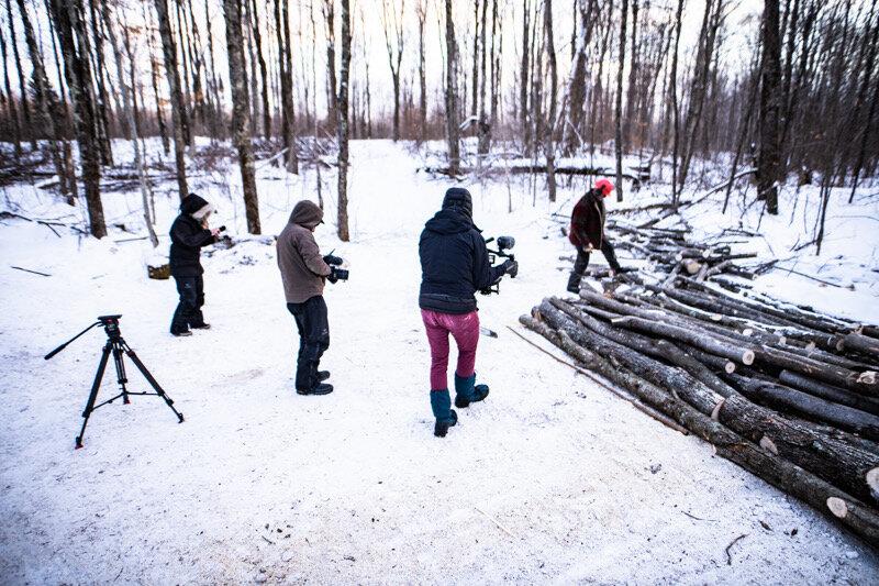 Filming at -30° F
