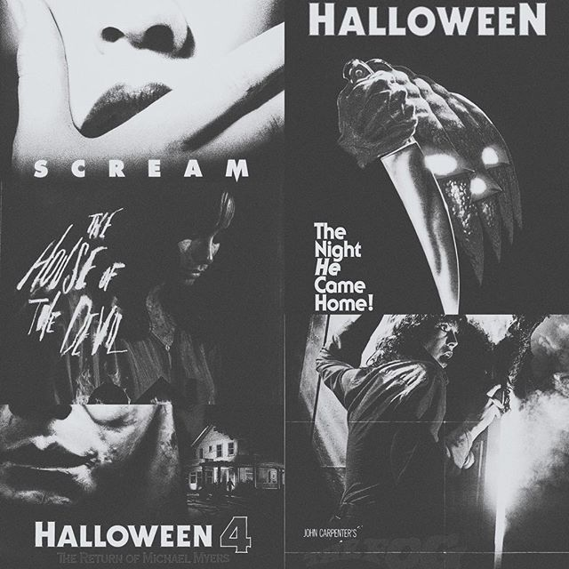 Everyone knows I'm a huge HORROR N3RD. So I had to do the #favoritehorrormoviechallenge #top5 #sweetdreams :) lots of #johncarpenter going on.