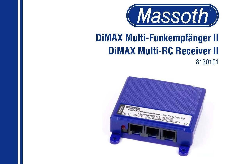8130101 DiMAX Multi-RC Receiver II Manual 2015-03