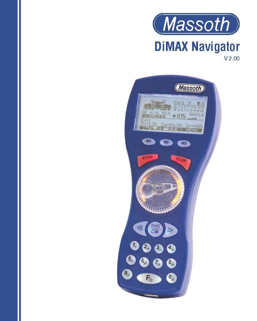 8134707 Massoth DiMax Navigator User's Manual V2.0 17-08
