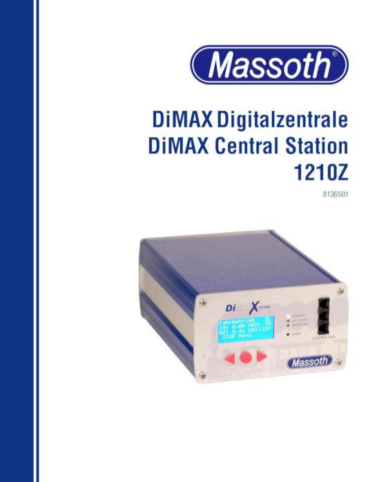 8136501 Massoth DiMax 1210Z Central Station User's Manual 13-10