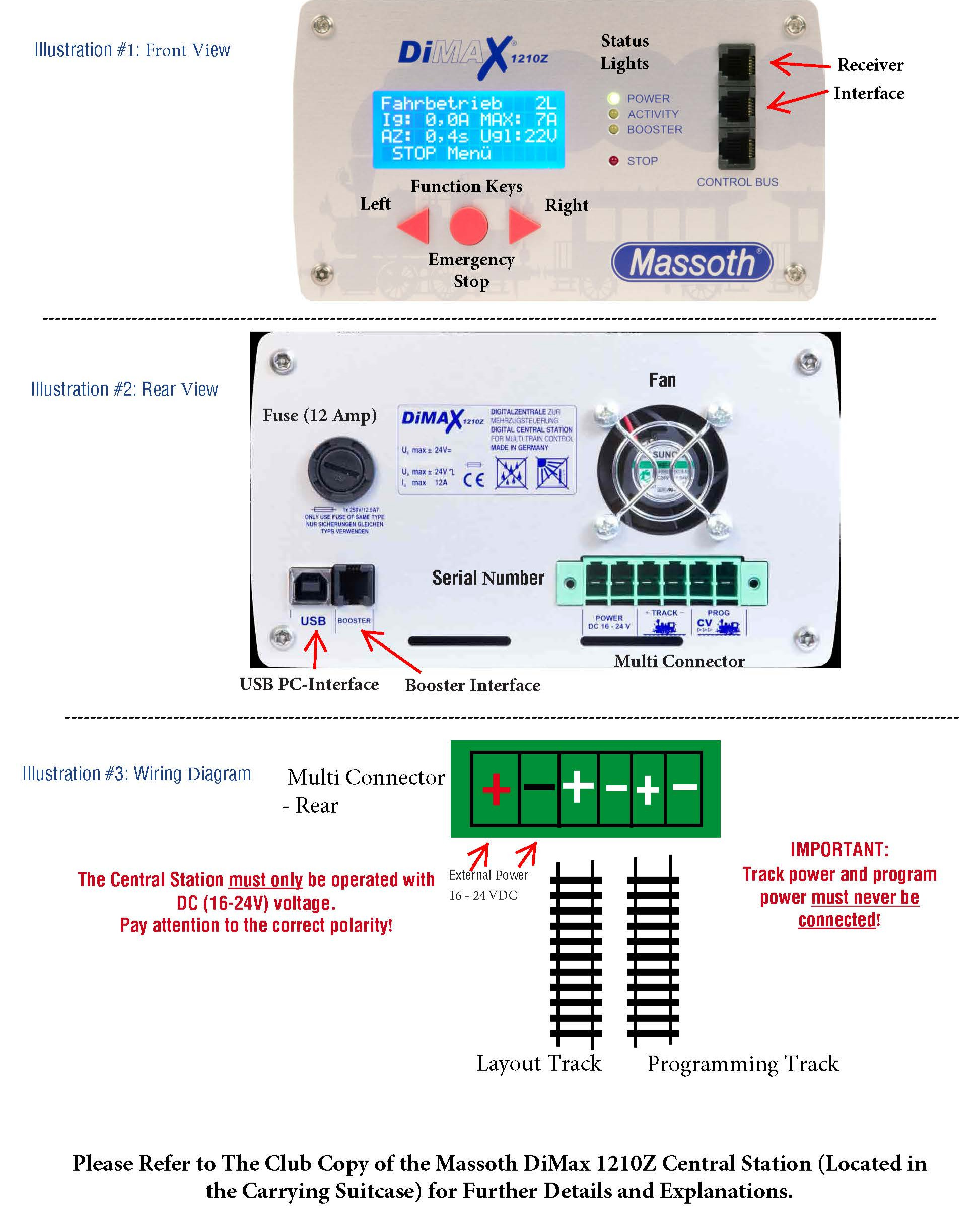 Massoth DiMax 1210Z Central Station Reference Guide