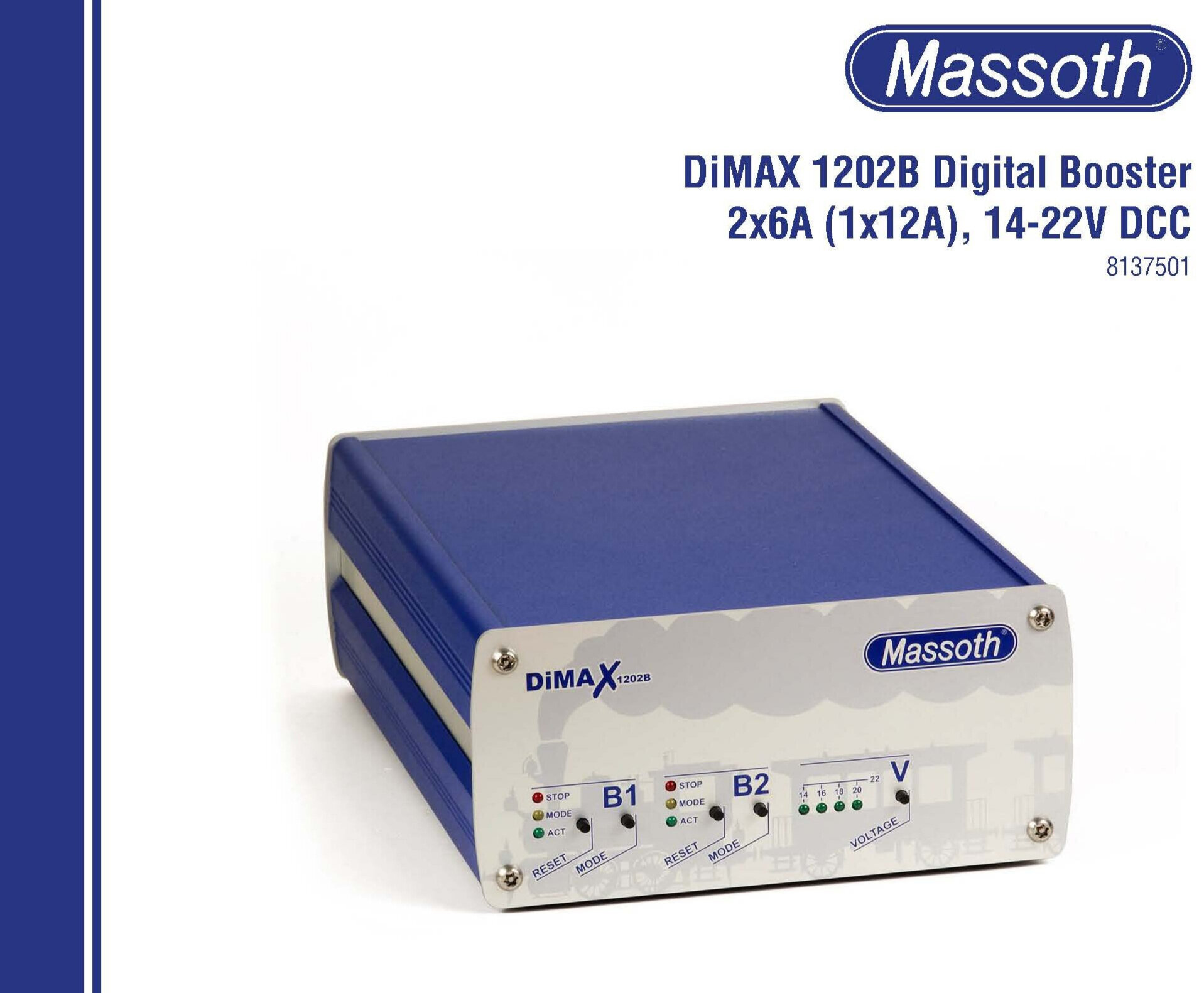 8137501 Massoth DiMax 1202B Digital Booster User's Manual 19-08