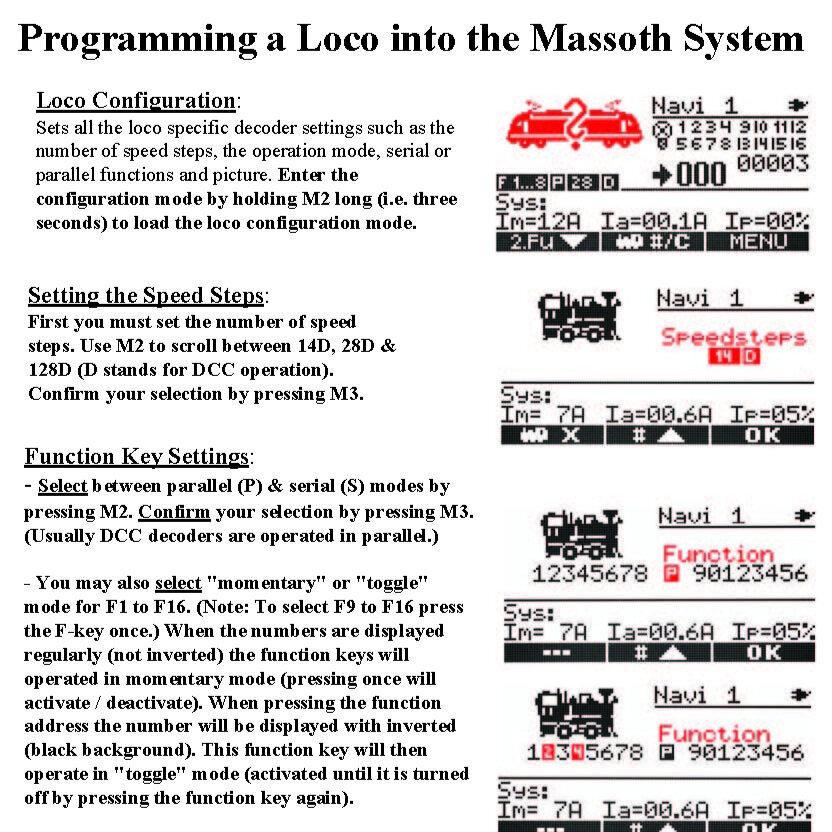 Programming a Loco into a Navigator