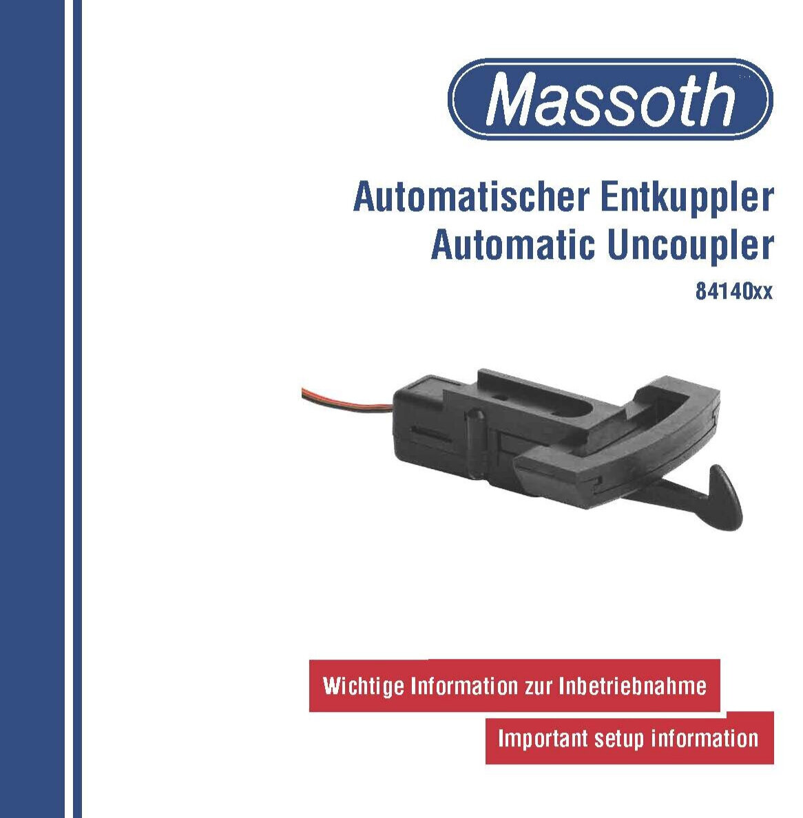 84140xx Massoth Automatic Uncoupler User's Manual 12-08