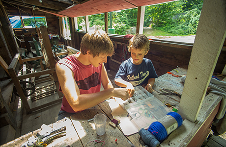 Camp Sangamon   Camp Sangamon is a summer camp for boys ages nine to sixteen. Set beside a beautiful lake in the hills of central Vermont, the camp is just minutes from Rutland and Killington. Camp activities range from woodshop to mountain biking, sailing, crafts, and more. Camp Sangamon is the brother camp to Camp Betsey Cox.   Visit Camp Sangamon →