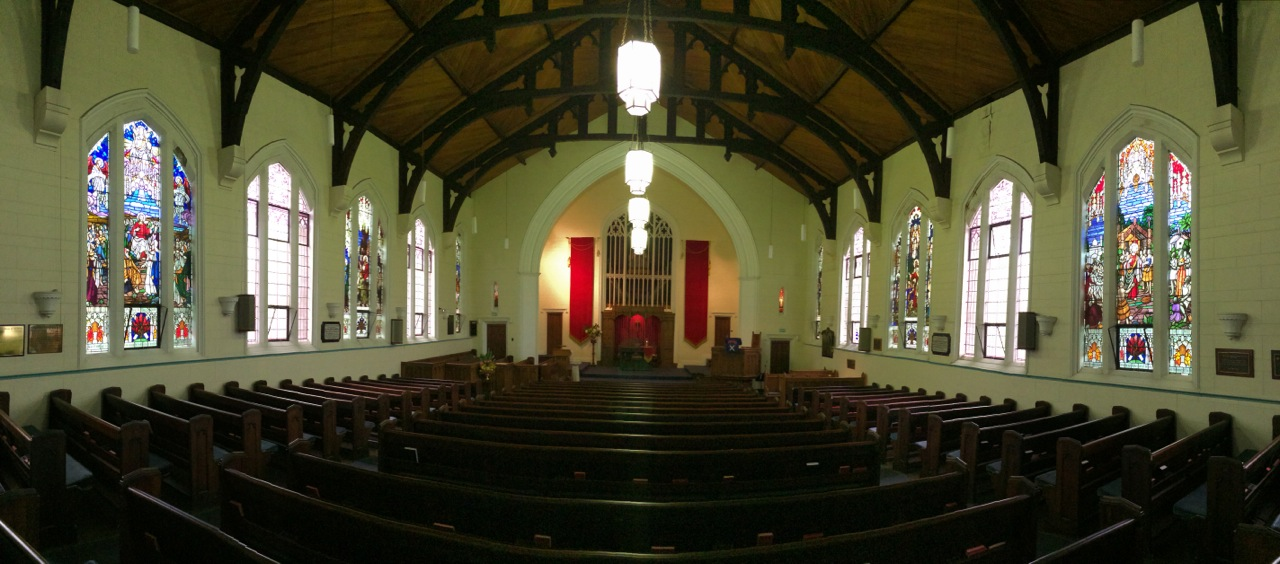 The gracious and welcoming interior of St David's