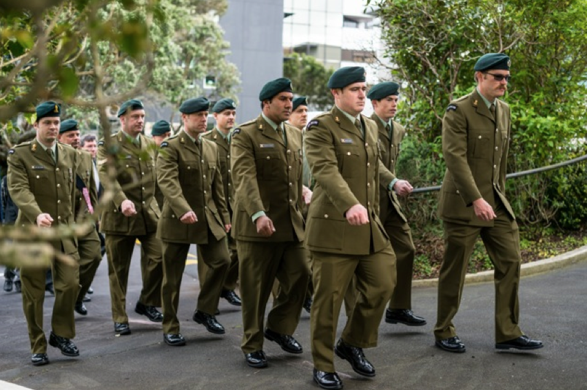 Sappers' Memorial Service parade 12 October 2014, continuing a tradition begun in 1927. Photography: Jonathan Suckling