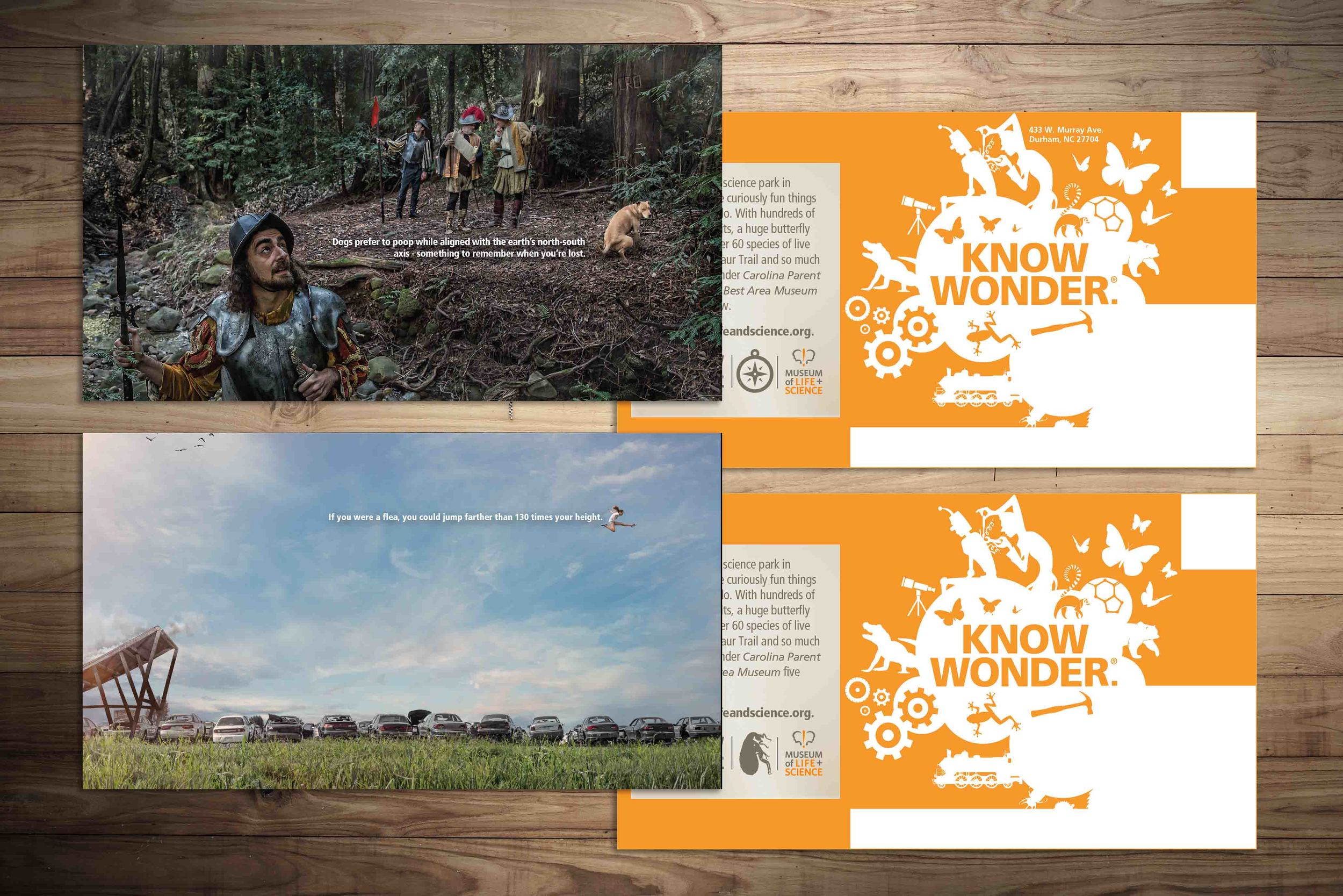 Direct Mail for The Museum of Life + Science. See the integrated campaign and case study  here .